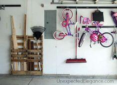 DIY Pallet Garage Storage