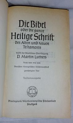 Antique 1912 Dr. Martin Luthers German Bible Heilige Schrift Old New Testament