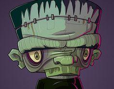 """Day 20 """"Frankenstein"""" on my @Behance portfolio: """"The Monster Mash"""" http://be.net/gallery/43463345/The-Monster-Mash"""
