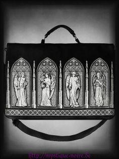 Tasche Handtasche Gotische Fenster Engel Viktorianisch Gothic Lolita Veggie