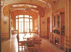 interior art nouveau style, Victor Horta, Belgium