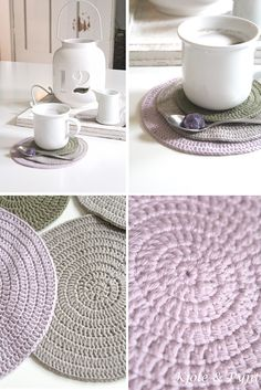 seidenfein 's Dekoblog: Häkeluntersetzer DIY (simpel) * chrochet coasters simple DIY *