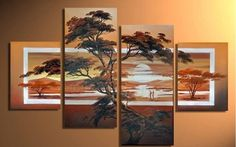 Sunset of land, nice artwork for home decoration - Direct Art Australia. Price: $389.00, Shipping: Free Shipping, Size of Parts: 35cm x 50cm x 2 panels + 35cm x 75cm x 2 panels, Total Size (W x H): 140cm x 75cm, Delivery: 21 - 28 Days, Framing: Framed (Gallery Wrap & Ready to Hang!), Handpainted: 100% Hand Painted on Canvas, Guarantee: 30 Day Money Back Guarantee. http://www.directartaustralia.com.au/