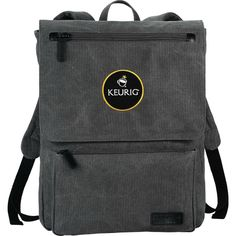 """Main compartment includes padded sleeve holds most 16"""" laptops and padded iPad or tablet pocket. Protective flap has a zippered pocket for additional storage. Front zipper pocket with organizational slots for pens, phone, and all other basic accessories. Adjustable backpack straps and carry handle. Kenneth Cole branding and lining complete the details."""