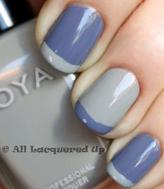 Thats what im talkin about. 2 toned french twist manicure with zoya caitlin & dove #alu #soulfulindulgence