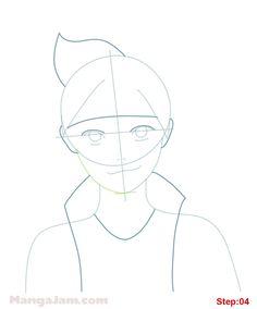 How to Draw Boruto Uzumaki from Naruto step 04 Naruto Drawings Easy, Anime Drawings Sketches, Cool Sketches, Easy Drawings, Gaara, Boruto Characters, Manga Characters, How To Draw Steps, Learn To Draw
