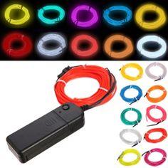 Wholesale 3M 10 colors Flexible EL Wire Neon Light Dance Party Decor Light