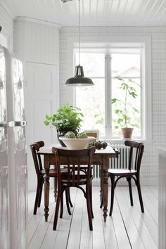 White Dining Room | Wood Panelled Dining Room | Country Dining Room