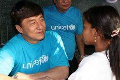 UNICEF Ambassador Jackie Chan in Mayanmar! An idol
