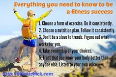 everything you need to know to be successful at fitness via fitknitchick.com