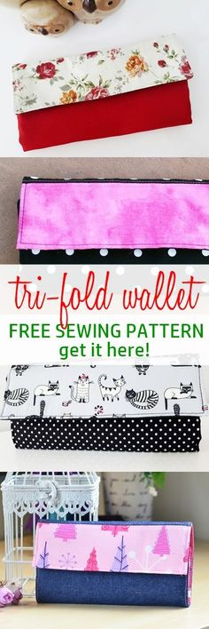 free wallet pattern | tri fold wallet pattern free | easy wallet tutorial | how to sew wallets