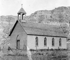 0042-028-Church-Medora-DT  Historic Church, Medora, Dakota Territory SHSND 0042-028