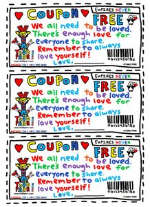 Todd Parr - We All Need Love Coupons