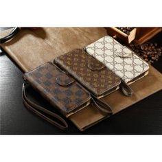 Modern Louis Vuitton LV  Leder FlipCase Handy  Schutz Hülle mit Seil für iphone 6 und Samsung Note 4