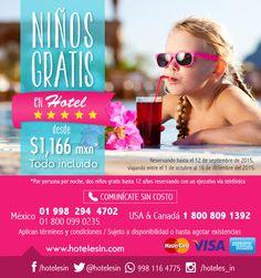 ¡Niños Gratis Resort 5 Estrellas! desde $1,166 mxn *pppn Riviera Maya Cancún, México. Thing 1, Riviera Maya, Two Girls, Cruises, Circuits, Hotels, Stars, People