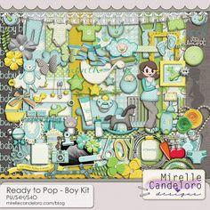 Ready to Pop - Boy Kit :: Full & Mini Kits :: Memory Scraps