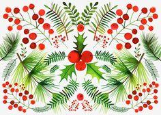 Les illustrations festives de Margaret Berg nous enchantent. Pourquoi ne pas vous inspirer de ces couleurs éclatantes pour réaliser votre prochain élément de décor du temps des fêtes au Crackpot Café?