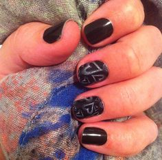 darkest black and chalkboard hearts <3  Browse and order at cmkane.jamberrynails.net!