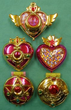 Mandarake | バンダイ 美少女戦士セーラームーン(Sailor Moon) ガシャポン 【変身コンパクトミラー 全5種セット】開封・ブックレット欠