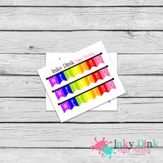 New to InkyDinkPrinting on Etsy: 3 Weekend Flag Banners Sample Sheet Planner Stickers Erin Condren Happy Planner Plum Planner Sticker Sampler EC Life Planner SP-04 (1.50 USD)