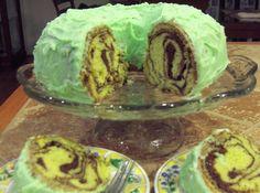 Pistachio nut swirl cake recipe