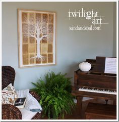 Make your own Twilight Art! Learn how to create the gorgeous Tree of Life painting as seen in the Cullen home, using coffee stained book pages.