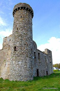 """""""Fethard castle, Co. It was most likely constructed in the late century by bishop Thomas de Dene"""" Wexford County, Wexford Town, Wexford Ireland, Castle Ruins, Medieval Castle, Palaces, Travel Sights, Castles In Ireland, England Ireland"""
