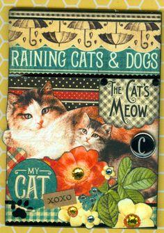 Cats Meow ATC.