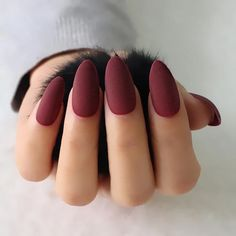 Intense Matte Stiletto/Almond False Nail – Vettsy Matte Stiletto/Almond False Nails Material: AcrylicApplication: FingerType: Full Nail TipsSize: normal sizeQuantity: Type: False Nail The fake nail glue is not included. Cute Acrylic Nails, Glue On Nails, Nagel Hacks, Nail Decorations, Perfect Nails, Nail Polish Colors, Color Nails, Halloween Nails, Red Nails