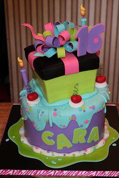 Sweet 16 Birthday cake...... i wanna try to make it lol