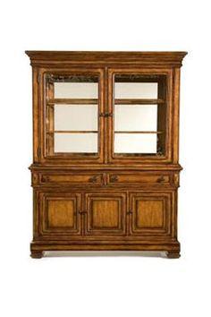 Larkspur Rustic Casual Birch Veneer China Cabinet