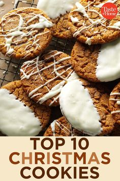 Top 10 Christmas Cookies Top 10 Christmas CookiesYou can find Best cookie recipes and more on our website. Holiday Cookie Recipes, Best Cookie Recipes, Holiday Desserts, Holiday Baking, Holiday Foods, Cookie Ideas, Christmas Cookie Exchange, Best Christmas Cookies, Xmas Cookies