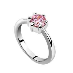 143fc58f0 Nicedeco - Elegance Ornament Silver Plated Station Swarovski Element  Crystal Ring Light Pink Color, Gift Ring, Party Ring, Engagement Ring --  Check this ...