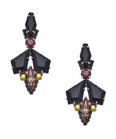 Sorrelli Onyx Mache Drop Earrings