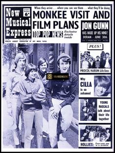 Del Shannon, Procol Harum, Cilla Black, Musical Film, Music Paper, Uk Music, Music Magazines, Mamas And Papas, Aretha Franklin