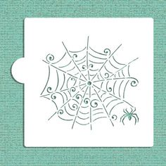 Skurrilen Spiderweb Cookie, Cupcake & Craft Schablone - Designer-Schablonen…