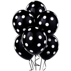 Black with White Polka Dots Latex Balloons ($4) ❤ liked on Polyvore featuring balloons, fillers, decor, backgrounds, objects, borders and picture frame