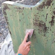 Chipped paint finish look to age furniture                                                                                                                                                                                 More
