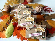 Herbstliche Verpackung mit dem Stempelset Herbstgruß von Stampin Up