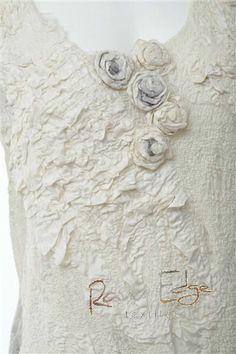 nuno felt dress detail - rawedgetextiles.com