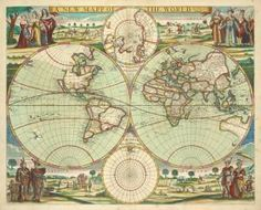 Thornton, Samuel -- Cartographer. A new mapp of the world. Digital ID: 1640711