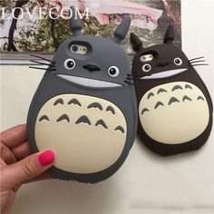 LOVECOM For Apple iPhone 5C 5 5S SE 4 4S  6 Plus 6S Plus Cases Fashion Catoon Totoro Cat Silicon Material Phone Case