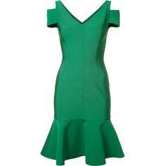 Yigal Azrouel peplum dress ($990) ❤ liked on Polyvore featuring dresses, green, peplum dress, green dress, yigal azrouÃ«l, yigal azrouel dresses and green peplum dress