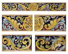 Tuscan tile stair raisers @ thatsarte.com