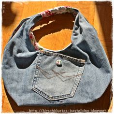 Tasche aus alter Jeanshose / Bag made from old pair of jeans / Upcycling