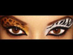 I couldn& decide whether to attend the party as a zebra or tiger - so I wen. , I couldn& decide whether to attend the party as a zebra or tiger - so I went as both! Halloween Eye Makeup, Halloween Eyes, Halloween Tricks, Halloween Stuff, Leopard Makeup, Animal Makeup, Zebra Print Party, Competition Makeup, Rave Makeup