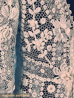 Exquisite Irish Crochet Gown c. 1910  Augusta Auctions