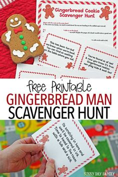 Create Christmas magic with a free printable Gingerbread Man Scavenger Hunt! Kids will love chasing clues left by runaway gingerbread cookies - and the sweet treat at the end. A super fun Christmas activity for kids and a great family Christmas tradition Gingerbread Man Activities, Christmas Activities For Kids, Preschool Christmas, Christmas Themes, Holiday Crafts, Holiday Fun, Christmas Crafts, Christmas Parties, Christmas Desserts