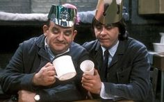 Norman Stanley Fletcher and Lennie Godber (Ronnie Barker and the late Richard Beckinsale) British Sitcoms, British Comedy, Comedy Tv, Comedy Show, Classic Tv, Classic Films, Porridge Tv Series, Richard Beckinsale, Ronnie Barker