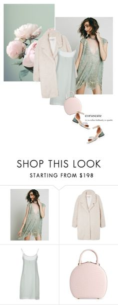 """""""Ready for a hot night out!"""" by magdafunk ❤ liked on Polyvore featuring Free People, Pantone, Gérard Darel, Manila Grace, Simone Rocha, Marni, Winter, pastels, furcoat and slipdress"""